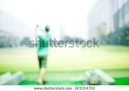 Abstract background,Golf Drive - stock photo