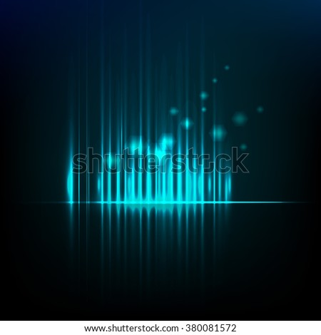 Abstract background graphic equalizer  - stock photo