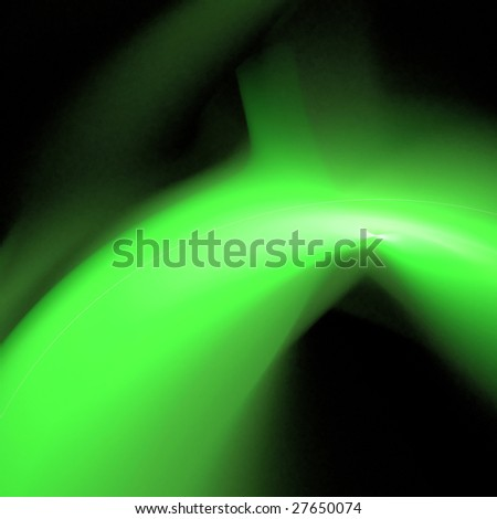 Abstract background. Green - black palette. Raster fractal graphics.