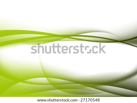 abstract background green curves - stock photo