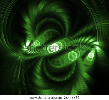Abstract background. green palette. raster fractal graphics.