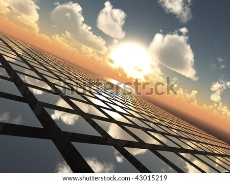 Abstract Background Grid Horizon - stock photo
