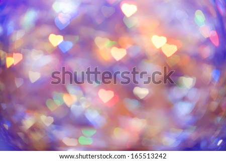 abstract background heart bokeh - stock photo