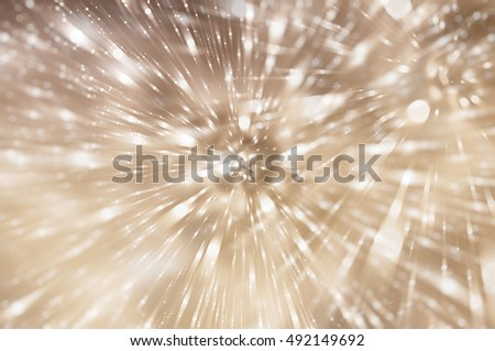 Abstract background holidays lights in motion blur brown image. illustration digital.