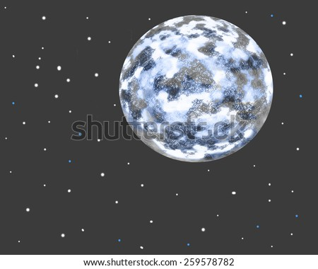 Abstract background - ice planet in outer space