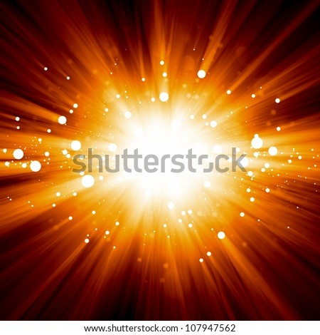 Abstract background - illustration of big explosion, catastrophe. Big bang. - stock photo