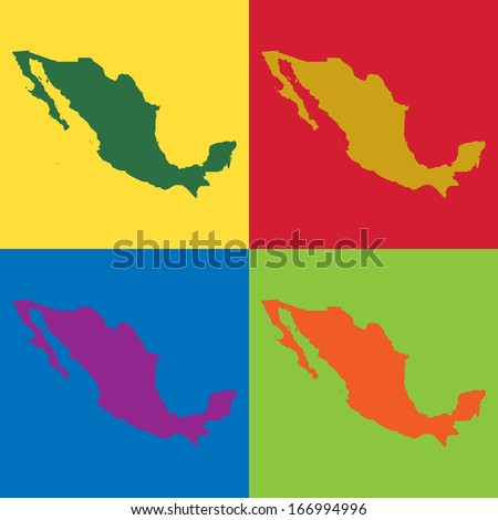 Abstract background illustration with map - Mexico