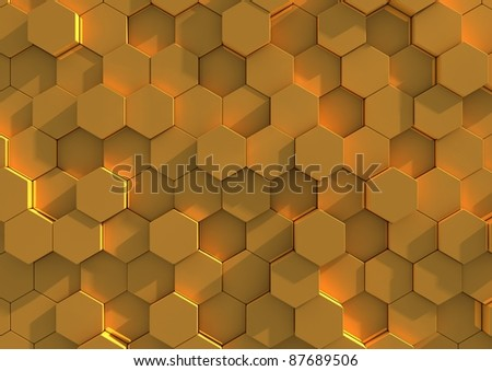 Abstract background image of golden tiles - stock photo