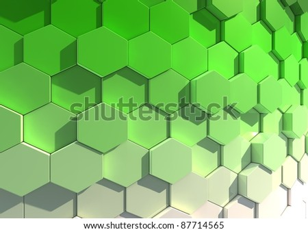 Abstract background image of tiles in green to white gradient - stock photo