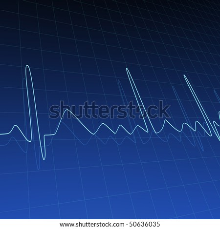 Abstract background image with ECG curves.