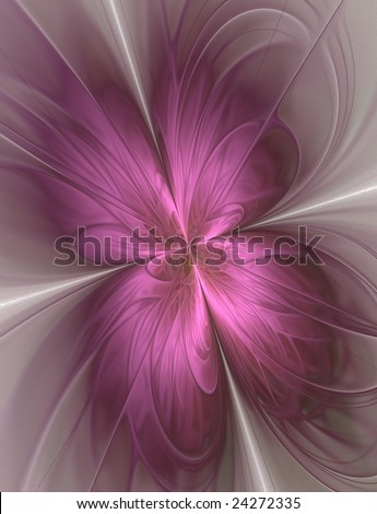 Abstract background in a butterfly shape