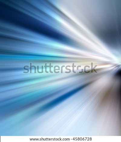 Abstract background in blue tones representing speed and action. - stock photo