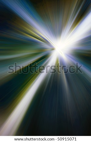 Abstract background in green and blue tones.