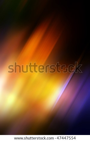 Abstract background in orange, yellow and purple tones.