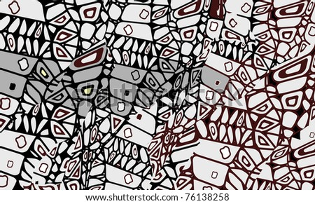 abstract background in the African style of the various elements(raster version) - stock photo