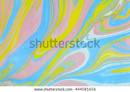 Abstract background, like stone marble. Hand painted ebru art background. Grunge and stone texture made in suminagashi marbling technique. - stock photo