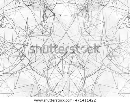 Abstract background lines. 3D illustration.