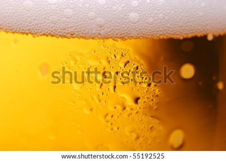 Abstract background macro closeup of beer - stock photo