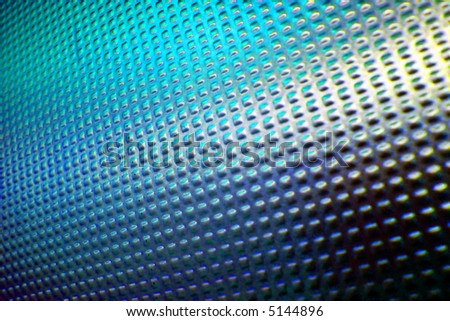 Abstract background made from metallic door with blue tones - stock photo