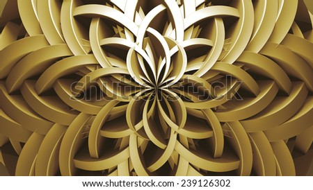 abstract background made of bended and twisted elements - stock photo