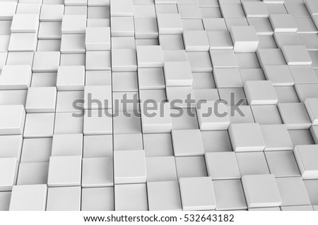 Abstract background made of 3d cubes, 3D render