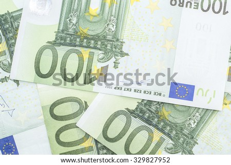 Abstract background made of euro banknotes