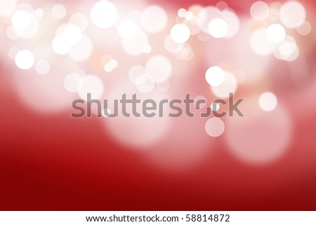 Abstract background made of red lights out of focus. - stock photo