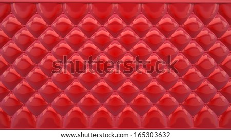 abstract background made of red soft plastic or vinyl - stock photo