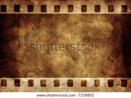 Abstract background made with old textured paper with a photo frame