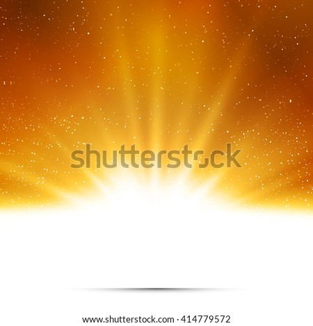 Abstract background. Magic light with gold burst. Gold light - stock photo