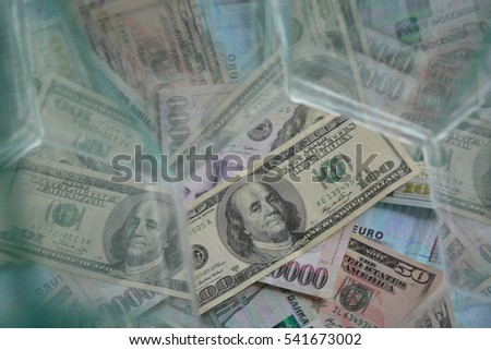 Abstract background, money