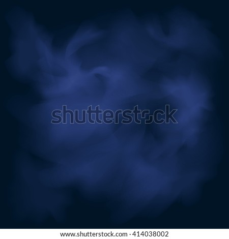 Abstract Background, Nebulae and Galaxies in Space,  Smoke on the Blue Background - stock photo