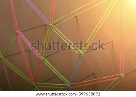 Abstract background networking,social media, internet communication,link concept. - stock photo