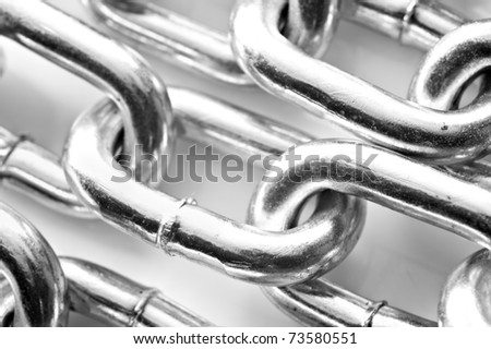 Abstract background of a silver chain - stock photo
