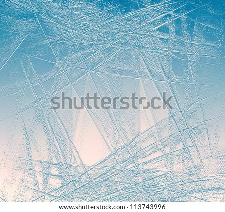 Abstract background of blue and red ice surface - stock photo