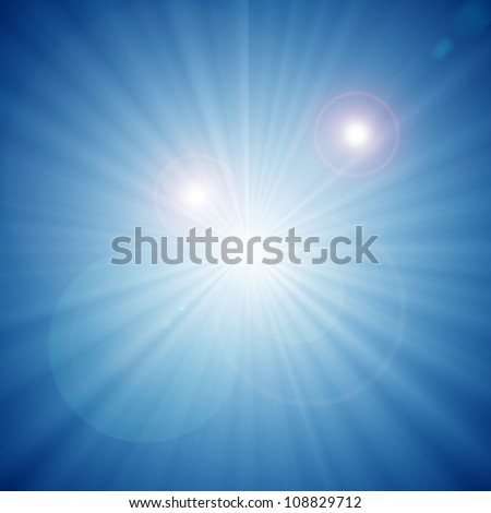 abstract background of blue star burst - stock photo