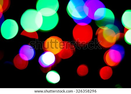 Abstract background of blurred lights with beautiful bokeh effect.