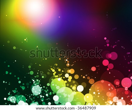 abstract background of bright colorful glowing lights - stock photo