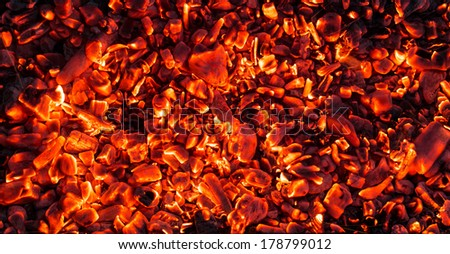 abstract background of burning coals - stock photo