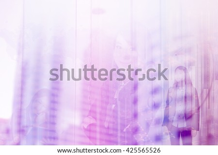 abstract background of business and city