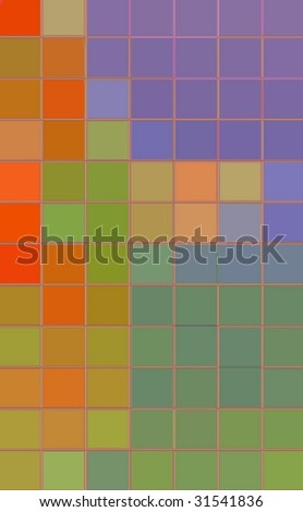 abstract background of colored large squares