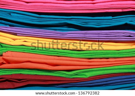 abstract background of colorful clothes - stock photo