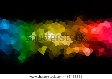 Abstract background of colorful crystal texture on the dark tone