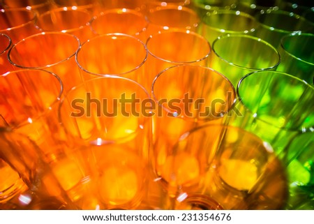 Abstract background of colorful glasses