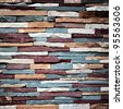 Abstract background of colorful stone wall texture - stock photo