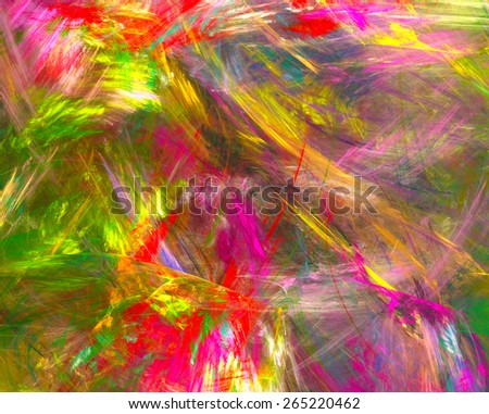 abstract background of colourful brush strokes - stock photo