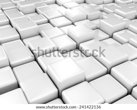 abstract background of cubes - stock photo