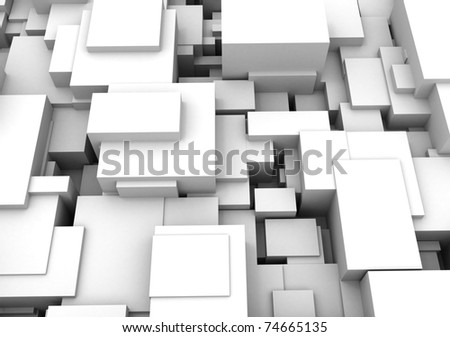Abstract background of 3d cubes - stock photo