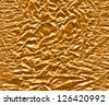 Abstract background of golden foil, high detail - stock photo