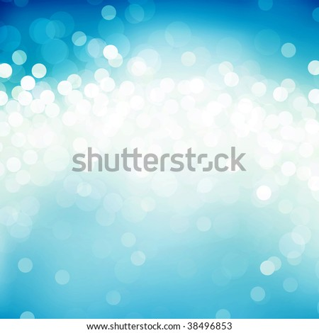 Abstract background of light dots on blue